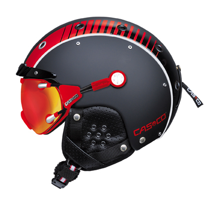 CASCO SP-3 Airwolf zwart-rood glans