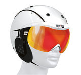 Casco SP-6 wit sport skihelm met vizier