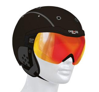 Casco SP-6 zwart skihelm met vizier